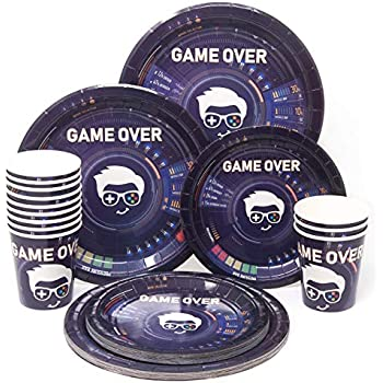 Amazon Com Video Gaming Game On Birthday Party Supplies Set Plates