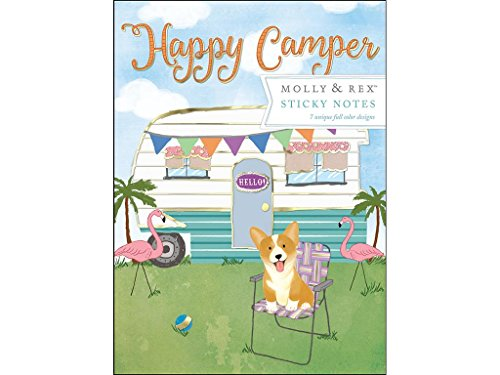 Molly & Rex Sticky Pad Portfolio Happy Camper Stickypadportifoliohappycamper