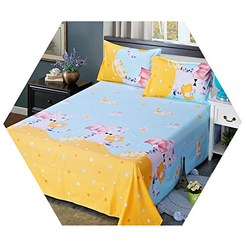 Bedcover Home Textile Bedclothes Sheets Single Student Dormitory Sheet Double Bed Yellow 230cm250cm