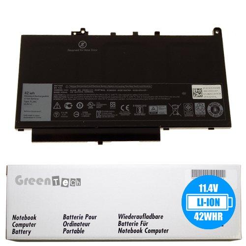 New 7CJRC battery for Dell Latitude E7270, Latitude E7470 - GreenTech 11.4V 42Whr 3-Cell Primary Battery 21X15 021X15