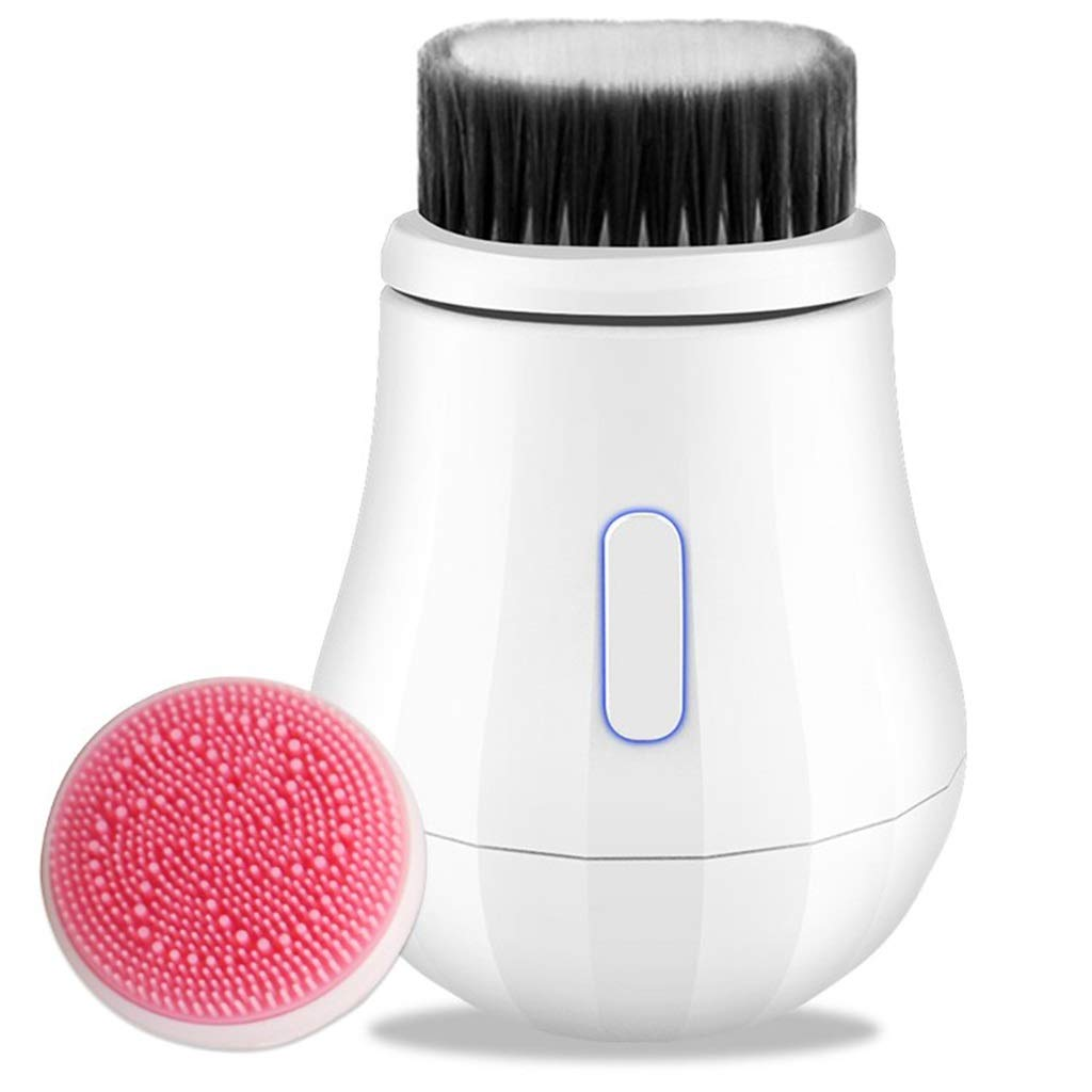 I want to fly freely Cleansing Instrument Electric Cleansing Instrument Wash Instrument Artifact Pore Cleaner Rechargeable Sonic Wash Brush Beauty Equipment (Color : Ivory) by I want to fly freely