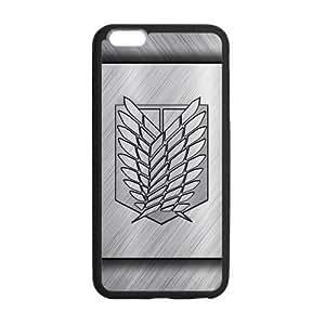 "LeonardCustom Hard Durable Rubber Coated Cover Case for iPhone 6 Plus 5.5"", Attack on Titan Scout Regiment Logo -LCI6PU123"