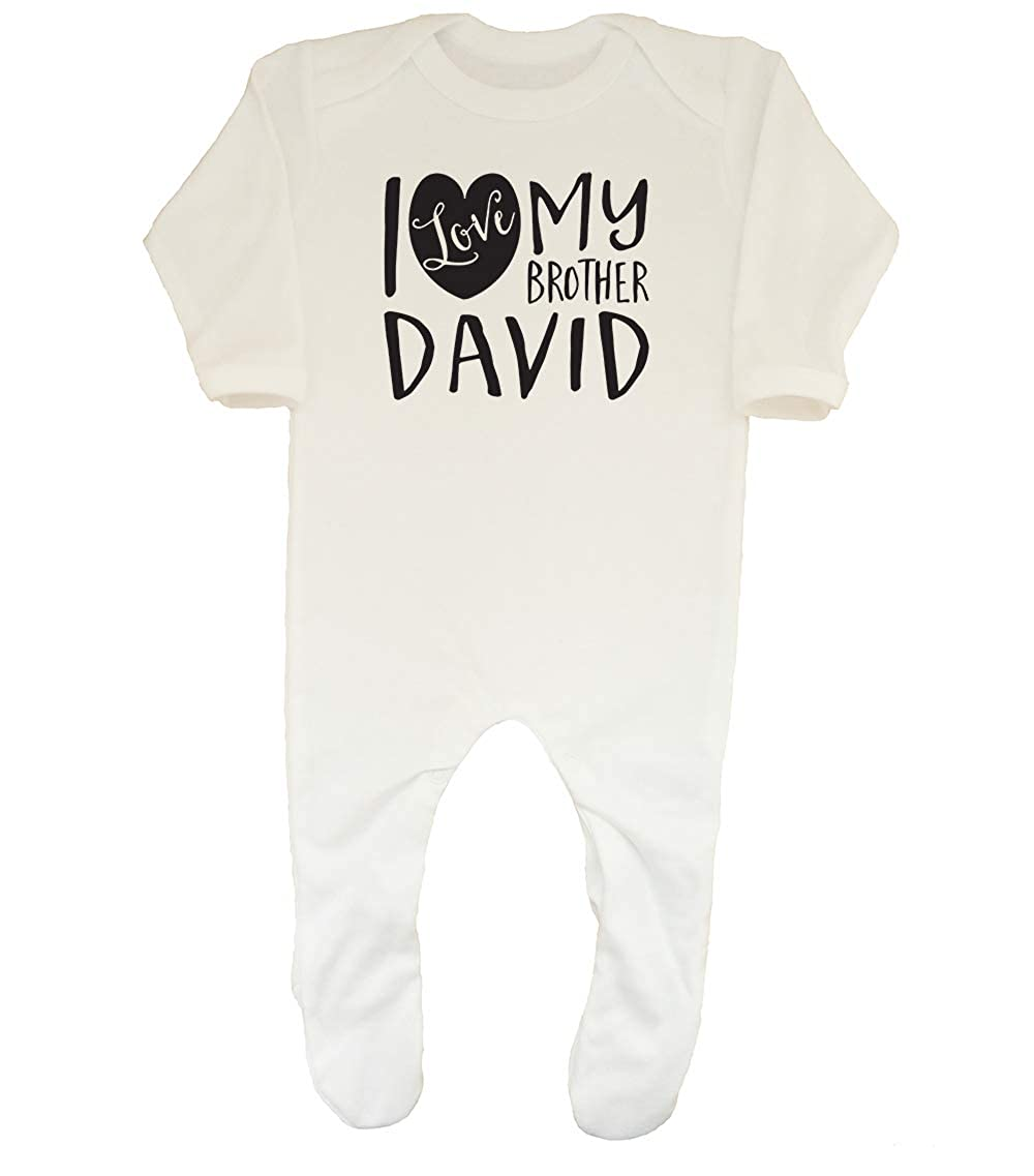 Shopagift Baby Personalised I Love My Brother Sleepsuit Romper