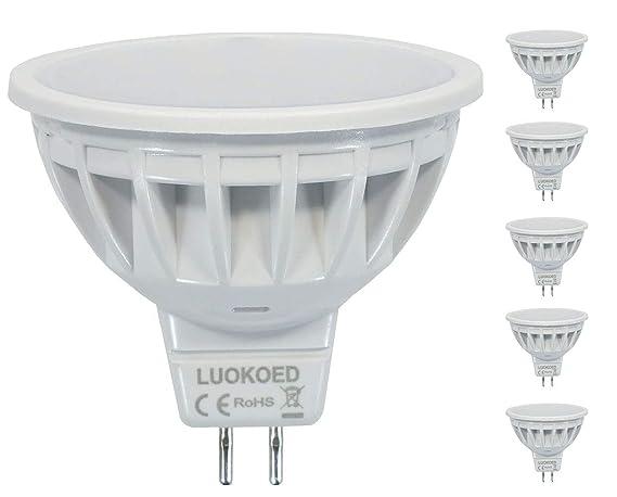 Bombilla Mr16 LED Foco 500lm Equivalente a 50W Luz Blanco Frio 6000K Regulable LUOKOED® x
