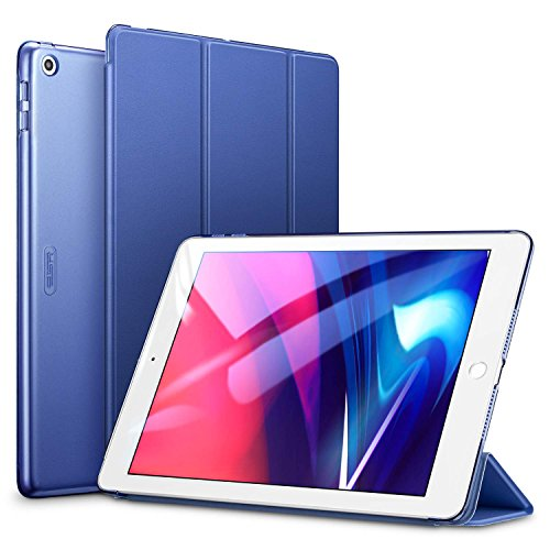 ESR Yippee Trifold Smart Case for iPad 9.7 2018/2017[A1822, A1823,A1893,A1954], Lightweight Smart Cover with Auto Sleep/Wake, Hard Back Cover for iPad 9.7 iPad 5th / 6th Generation, Navy Blue