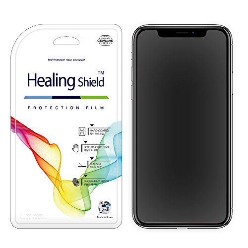 for iPhone X Screen Protector, [2 + 1 Pack], Healing Shield AFP OLEOPHOBIC 2-Pack Front & 1-Pack Matte Back Full Cover Protector for Apple iPhone X