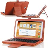 MoKo Bluetooth Keyboard Cover Case for Samsung Galaxy Note 8.0 inch GT - N5100 / N5110 Android Tablet, BROWN