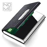 NOMĒ Slim Business Credit Card Holder - Minimalist Case Design - Magnetic Clasp - Black