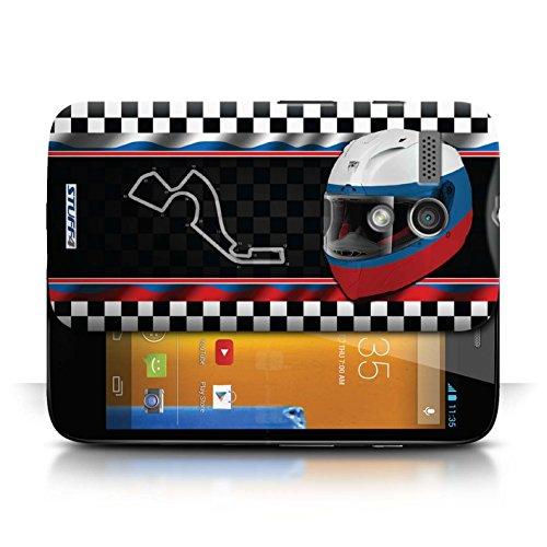 Etui / Coque pour Motorola MOTO G (2013) / Russie/Sochi conception / Collection de F1 Piste Drapeau