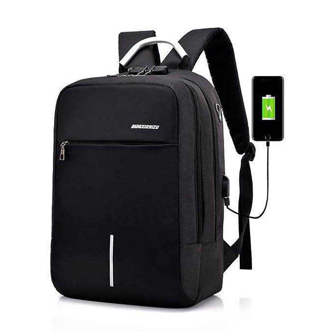 Men/'s Travel Backpack USB Charging Port Nylon Bookbag Daypack School Laptop Bag