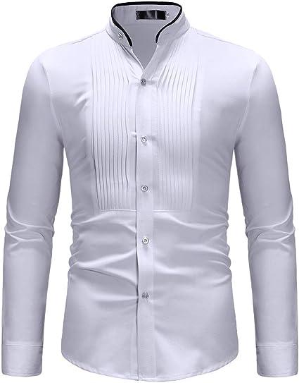 Baoffs Camisas Casuales de los Hombres clásicos Camisa de ...