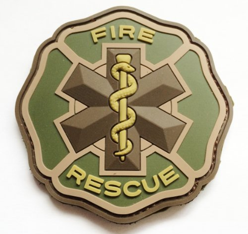 Fire Rescue Patch - Multicam EMT Paramedic Firefighter Fire Rescue PVC Patch
