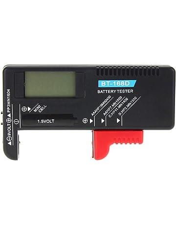 Hemobllo Probador portátil de la batería Volt Checker de fácil Lectura Medidor de Voltaje Probador de