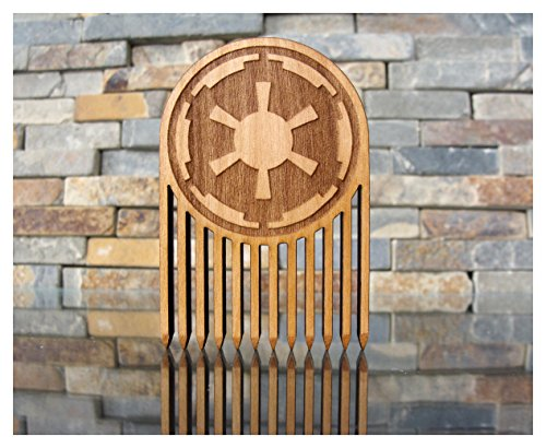 Galactic Empire Wood Beard Comb // Dark Side by L.I.M. Lazer