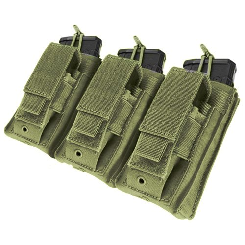 [Condor Triple Kangaroo Mag Pouch Olive Drab] (Mag Green)