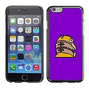EJOY---Cubierta de la caja de protección la piel dura para el / Apple Iphone 6 Plus 5.5 / --Divertido Crazy Duck