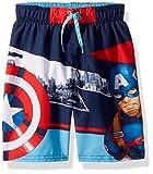 Marvel Little Boys' Captain America Swim Short, Red/Blue, 7
