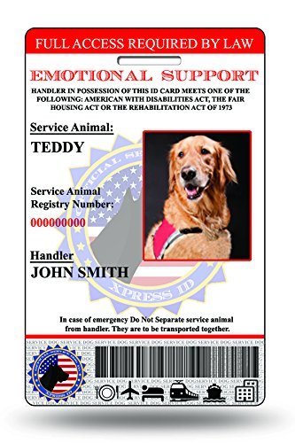 Holographic Emotional Support Dog ID Card (Custom Service Dog Id Card compare prices)