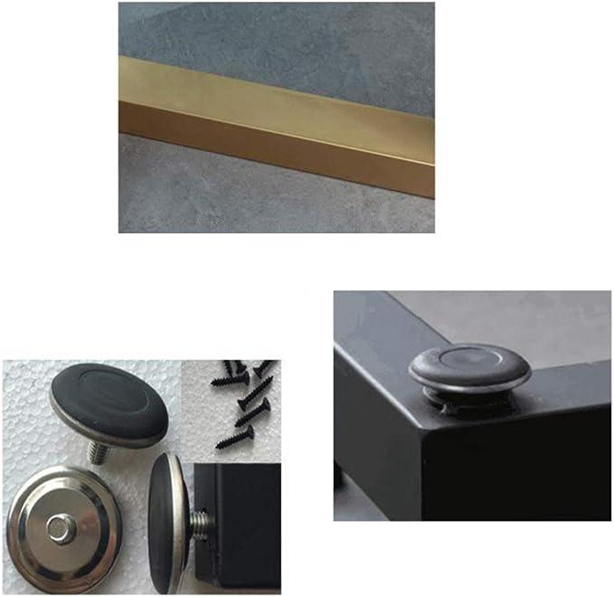 Capacidad De Carga De hasta 500 Kg DFVV Patas Ajustables para Muebles Accesorios De Muebles Modernos Negro//Dorado Patas De Mesa con Alfombrilla Antideslizante Patas De Mesa De Caf/é