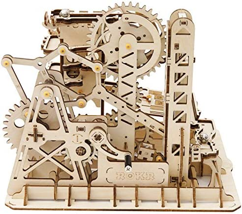 Building Set Cog Coaster Amazing Tracks with Accessories Funrarity Handcrafted Marble Run-3D Wooden Puzzle Game- Home Decoration