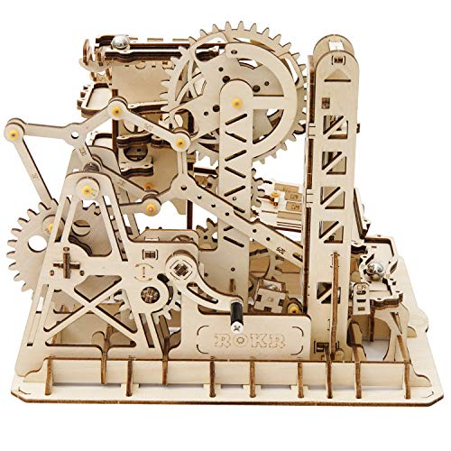 ROKR Mechanical Gears DIY Building Kit Mechanical Model Marble Run Kit with Balls for Teens and Adults Tower Coaster