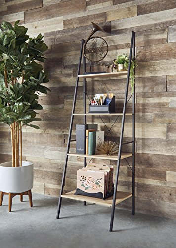 ClosetMaid 1312 4-Tier Wood Ladder Shelf Bookcase, Natural by ClosetMaid (Image #3)