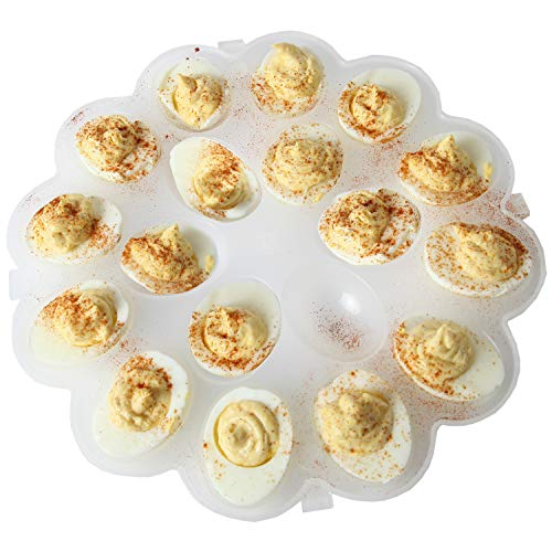 Trenton Gfits Deviled Egg Tray | Durable Plastic | SafelyTransport Perfect Deviled Eggs | Holds Up To 18 Deviled Eggs