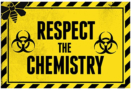Laminated Respect the Chemistry Biohazard Poster 19 x 13in