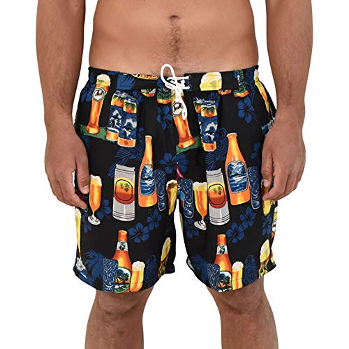 ISLAND STYLE CLOTHING Mens Shorts (Black Beer, XL) ()