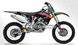 Kungfu Graphics Motocross Custom Decal Kit for Honda CRF450R 2008, Black White