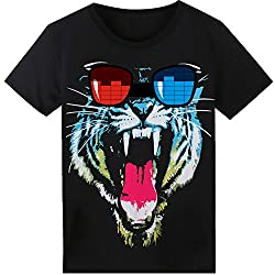 Tiger T-Shirt Sound Activated Glow Light up Equalizer