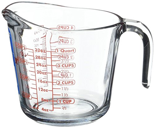 Anchor Hocking 55178OL11 Glass 32 oz Measuring Cup