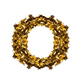 Elevin(TM)Merry Christmas Supplies Ribbon Garland Wreath Window Wall Door Decorations Ornament Party Decor (Gold)