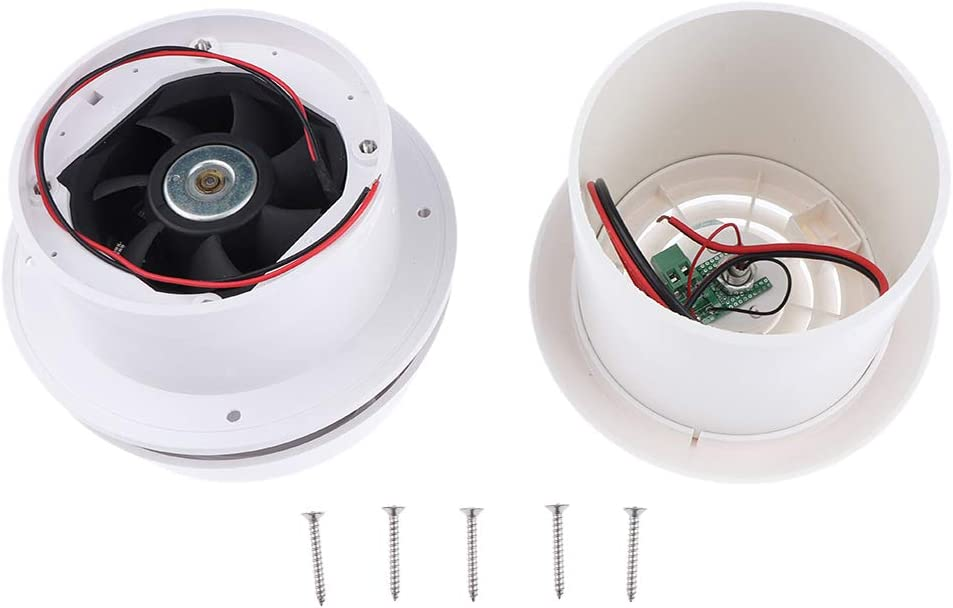 B Blesiya 12V RV Motorhome Roof Vent Ventilation Ceiling Exhaust Fan with LED 200CFM