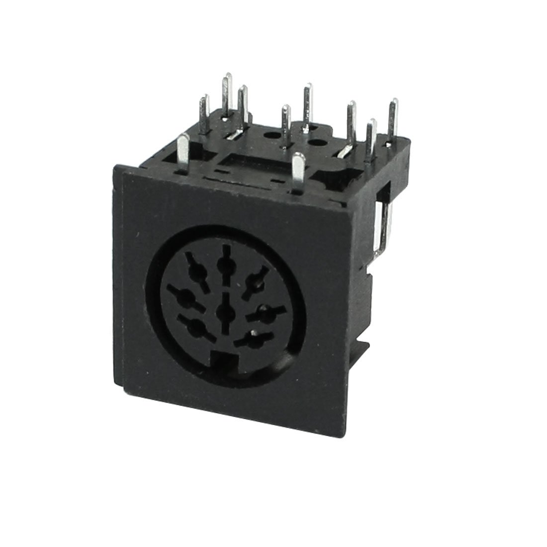 Sourcingmap/® Angolo retto DIN 8 Perno per Montaggio su Circuito Stampato Prese Femmina per Tastiera PC