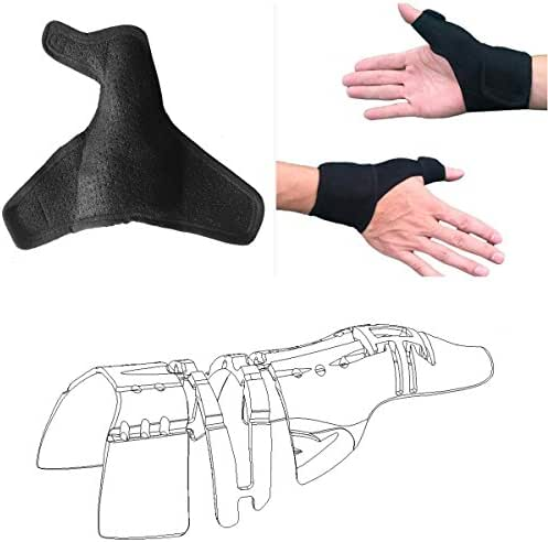 Thumb Splints Wraps Guard & Wrist Brace Straps (L,1pcs,Unisex,Left and Right Hand),Thumb Support 3D Full Frame Stabilizer,Thumb Arthritis Pain Relief Brace