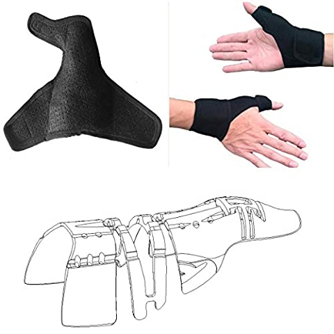 Medical Thumb Brace Splint Wrap with Wrist Strap Protector(1 pcs,Unisex,Fits Left and Right Hand),3D Full Thumb Finger Support Frame Protecion Stabilizer,Professional Thumb Arthritis Pain - Hockey Wrist Guards
