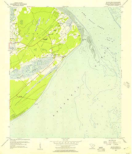 - YellowMaps Hilton Head SC topo map, 1:24000 Scale, 7.5 X 7.5 Minute, Historical, 1956, Updated 1957, 26.8 x 23 in - Paper