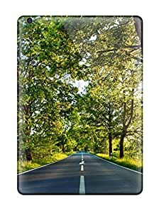 Hot Design Premium YjPAYAS615zIzmV Tpu Case Cover Ipad Air Protection Case(road With Signs And Trees On Sides) by supermalls