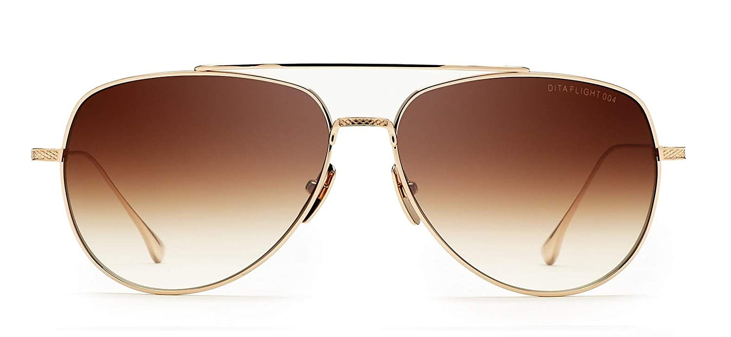a708ab6db46a Sunglasses Dita FLIGHT. 004 7804 B-12K 12K Gold w D. Brown to Clear   Amazon.co.uk  Clothing