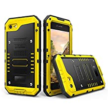 Guojia iPhone 7 plus Waterproof Case,Underwater Photography, Diving Phone Cover, Full Protection, Cool Three Proof Mobile Phone Shell, Suitable for Travel, Swimming and Diving (Yellow)