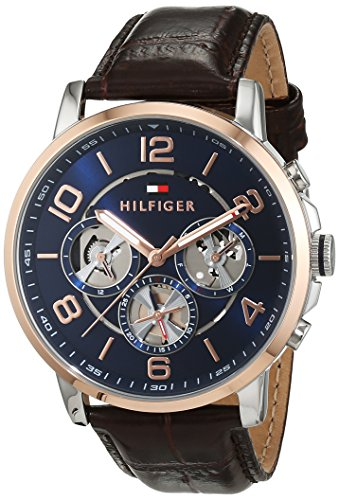 Tommy Hilfiger Herren-Armbanduhr Sophisticated Sport Analog Quarz Leder 1791290