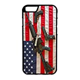 407Case Compatible with iPhone 6 US Flag Constitution Guns Hybrid Rubber Protective Case (iPhone 6)