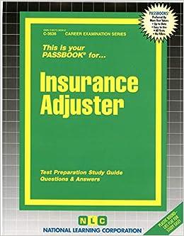 Insurance Adjuster(Passbooks) (Career Examination Series ...