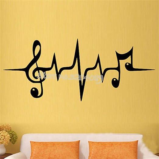 zzlfn3lv Símbolo del Pulso de la música Etiqueta de la Pared Clave ...