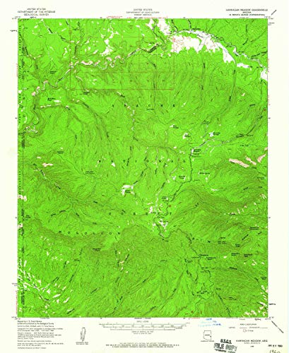 Hannagan Meadow AZ topo map, 1:62500 Scale, 15 X 15 Minute, Historical, 1958, Updated 1960, 20.6 x 16.9 in - Paper ()