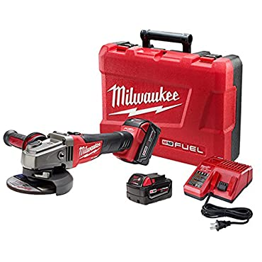 Milwaukee 2781-22 M18 FUEL 4-1 / 2 - 5 Grinder, Slide Switch Lock-On, 2 Batteries