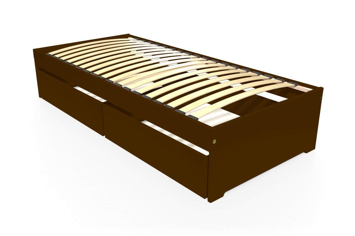 ABC MEUBLES - Einzelbett Malo 90x190 cm + Schubladen - TOPMALO90T - Wenge, 90x190