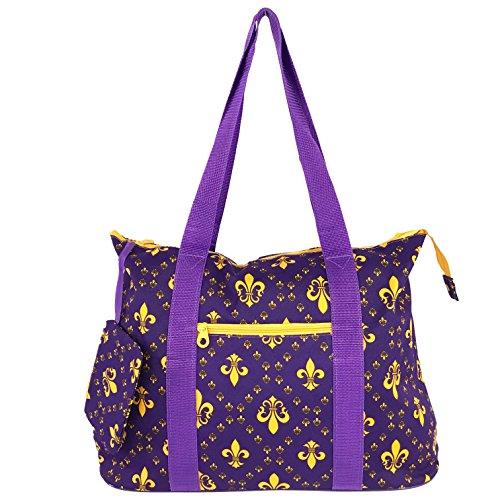 Allgala Tote Bag, Fleur-de-lis Purple-AE4418CRPP