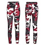 Limsea Womens Casual Camo Trousers Military Army Elastic waistt Camouflage Pants